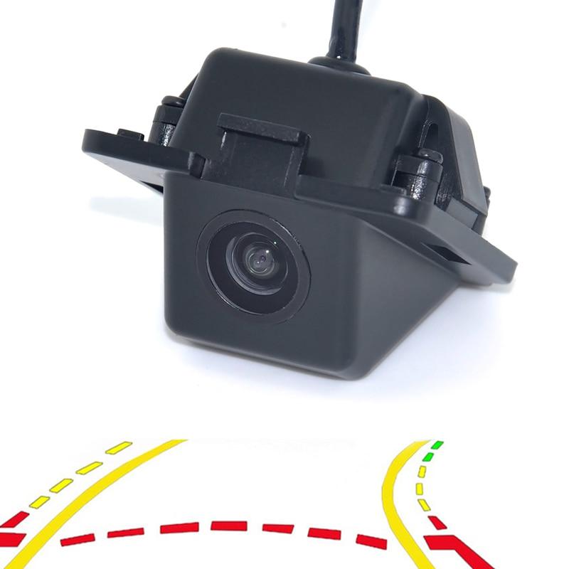 WF Intelligent Dynamic Trajectory Tracks Parking Line Reverse Rearview Parking Camera For Mitsubishi Outlander 2007-2015