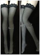 1/6 Women Figures Black Mesh Stockings for 12 Inches Bodies
