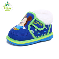 Disney Baby Infant Toddler Crib Shoes Soft Sole Kid Cotton Shoes For Newborns Winter Snow Boot