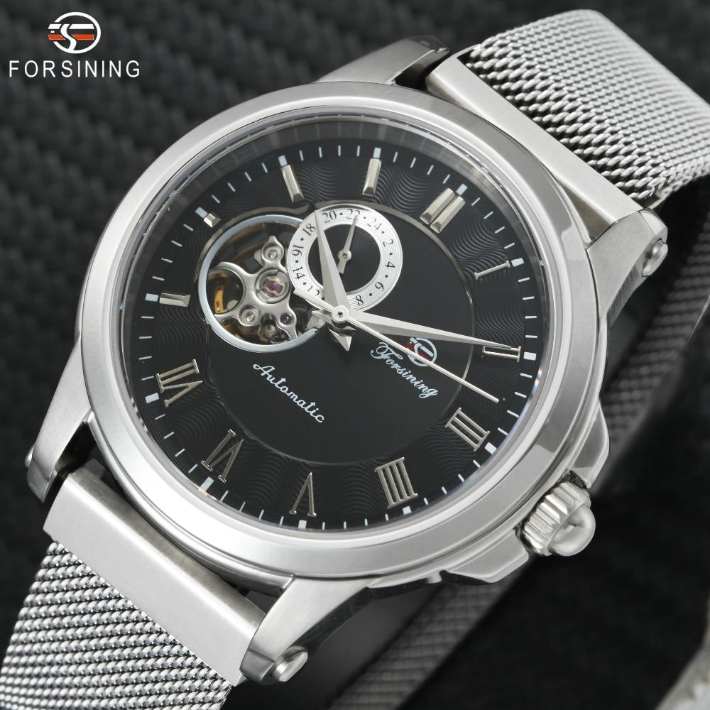 FORSINING Top marque de luxe mécanique montre hommes Tourbillon petits sous-cadrans affichage aimant sangle 2019 nouvelle mode Auto montre-bracelet