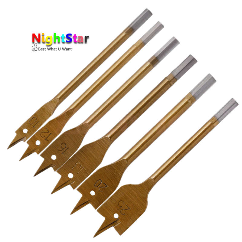 6pcsTools Industrial Spade Paddle Flat Wood Boring Drill Bit сумка kate spade new york wkru2816 kate spade hanna