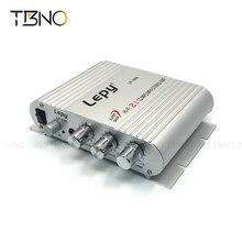 Lepy 12 V Mini Hi-Fi CD MP3 Reproductor de Radio Estéreo de Audio 2.1 Altavoz de Graves Del Amplificador Subwoofer Boostrer Para Coche de La Motocicleta casa