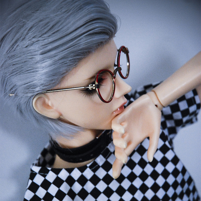Allaosify Bjd Hair 1/3 1/4 1/6 BJD Doll High-Temperature Wig Girl And Boy Short Straight Wigs SD BJD Wig With Bang