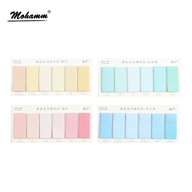 Creative Colorful Memo Pad Sticky Notes Memo Notebook Stationery School Office Supplies Post It Memo Pad Papelaria Escolar rainbow northern europe memo pad paper sticky notes notepad post it stationery papeleria school supplies material escolar