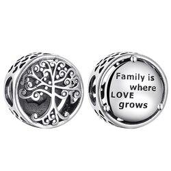 Moda 925 prata esterlina diy bem como árvore da vida forma redonda contas caber pandora original charme pulseira jóias fazendo