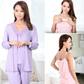 Fashion pregnant coat pregnant Sleepwear Breastfeeding Sleepwear Nursing Pajamas for  Women 3pcs/Set hot selling