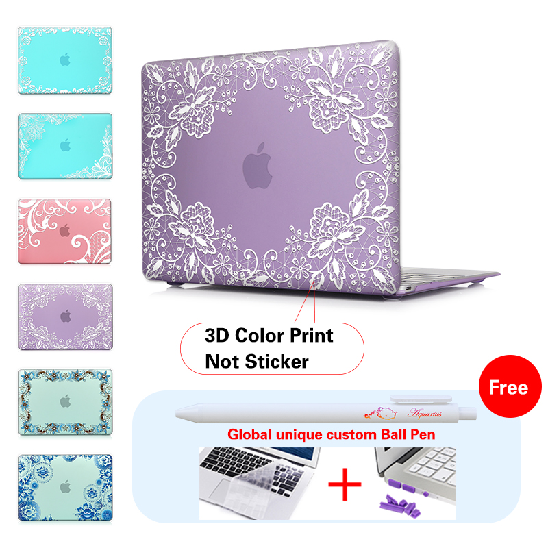 Aliexpress Com Buy Laptop Case Print Lace Cover For Macbook Air Retina Apple Pro Touch Bar Hard From