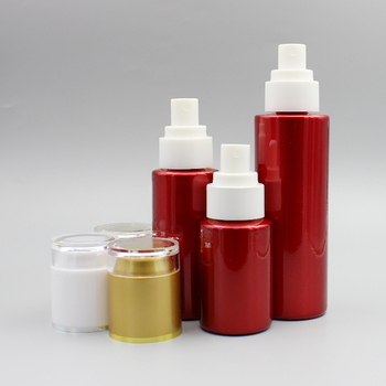 Luxury Spray Bottle,30ml Red Glass Oval Mist Spray Pump Bottle with Acrylic Lid