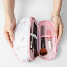 Cosmetic Storage Bag Portable flower   Printing With Large Capacity Double Layer For Travel Handbag Orgnazer Makeup Storage цена