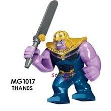 Único Vingadores Thanos Infinito Guerra com armas Thor Homem-Formiga Nebulosa Pedras Scarlet figura blocos de construção de brinquedos para crianças