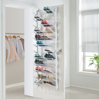 Steel and abs simple style living room containing multilayer door shoe rack