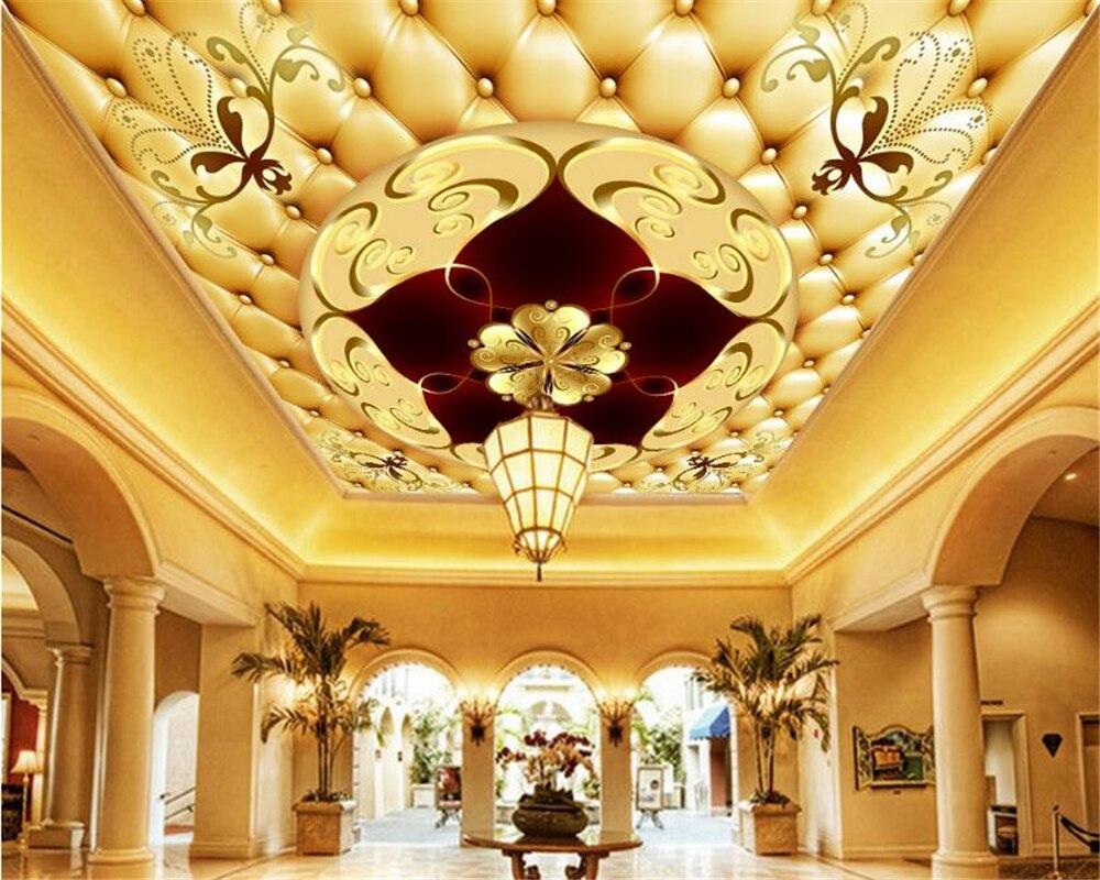 Beibehang alta moda beleza estética à prova d3d água pintura piso 3d saco macio europeu de luxo zenith murais