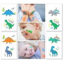Вечерние водостойкие тату-Стикеры с динозаврами для детей, для вечеринки в честь Дня рождения, динозавр, животное, маленький подарок, интересные украшения