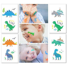 Dinosaur Party Kid Waterproof Tattoo Sticker Birthday Party Dinosaur Animal Child Little Gift Interesting Decoration(China)