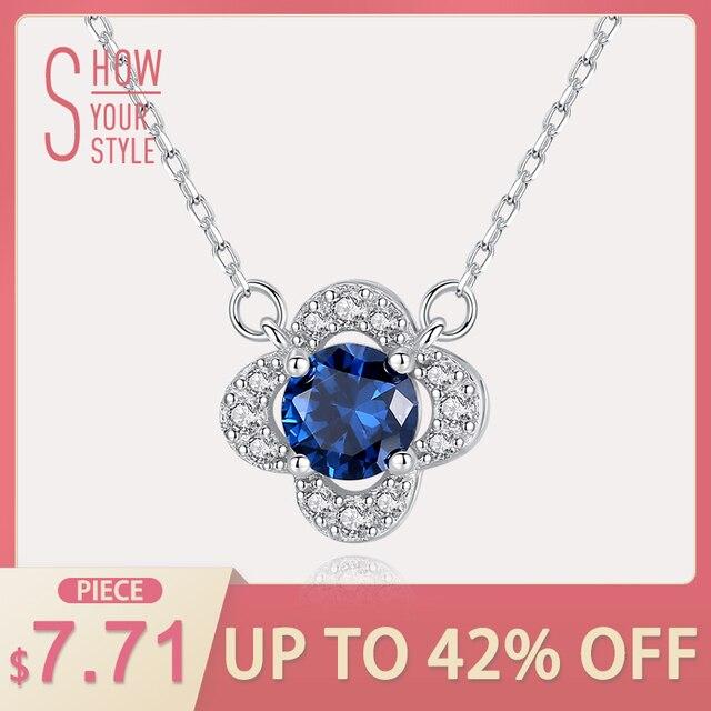 CZCITY Snowflake Genuine Blue Topaz Solid 925 Sterling Silver Pendant Fine Jewel