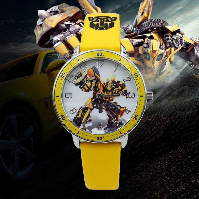 2019  New Children Belt Watch Boy Boy Electronic Waterproof Watch Cartoon Transformers Primary School Boy Quartz Watch