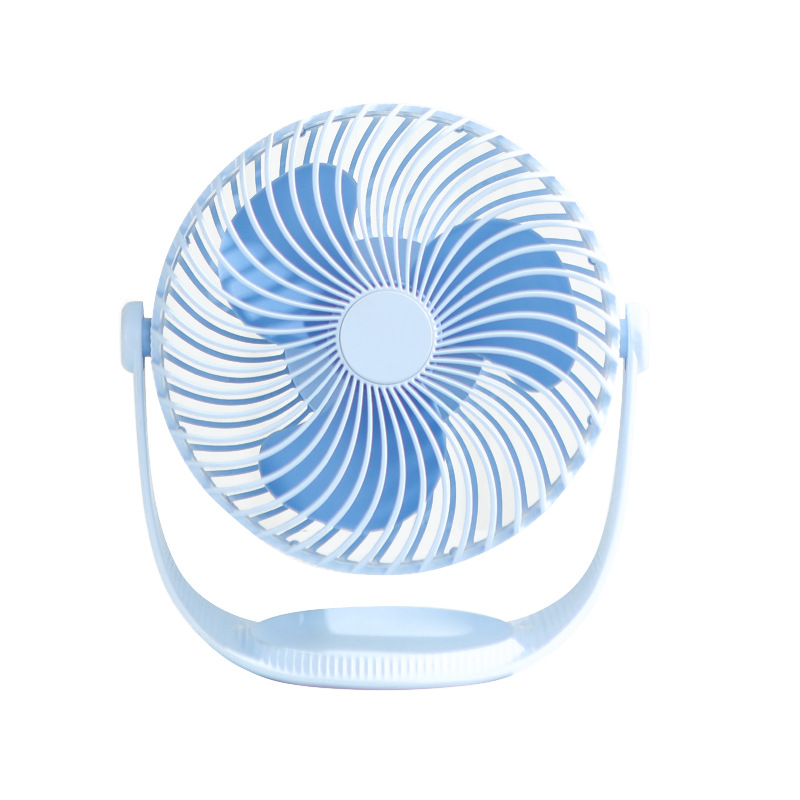 Air Cooler Mini Portable Fans Desktop Rechargeable Built-in Battery Air Cooling Fan Student Dormitory Bed USB Fan Color : Pink, Size : 2000 mAh
