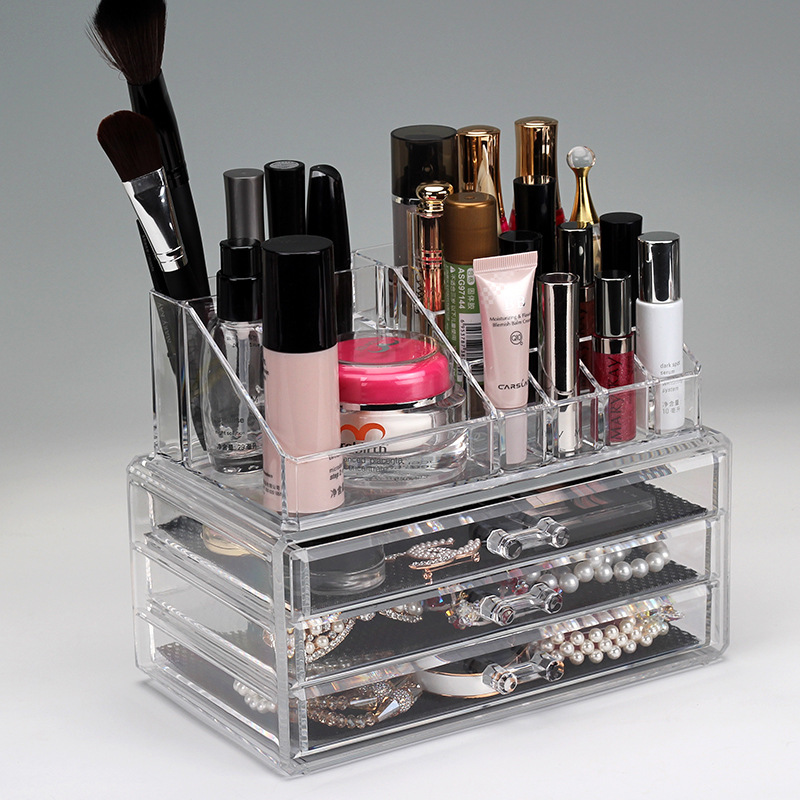 grand acrylique tiroir maquillage organisateur transparent. Black Bedroom Furniture Sets. Home Design Ideas