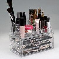 Large Acrylic Drawer Makeup Organizer Transparent Cosmetic Make Up Storage Box Multi Drawer Ring Jewelry Case