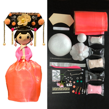 DOLLRYGA Slime Doll Set  DIY Clay Chinese Style with Dress and Headwear Handwork Birthday Christmas Gifts For Girl