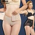Mulheres body shaper body slimming underwear cuecas fina mid-lombar abdômen quadris da cintura espartilho sexy underbust shapewear