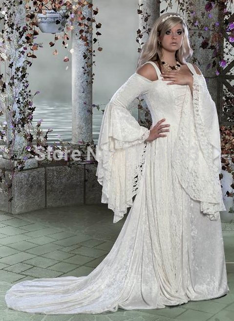Cheap Medieval Wedding Dress Fashion Dresses
