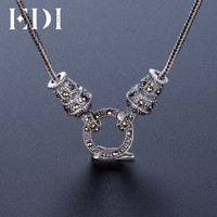 EDI Retro Boho Vintage Silver 925 Statement Necklace Chain Punk Sterling Silver Jewelry For Women Men