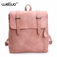 Wellvofamous бренд рюкзак Для женщин Рюкзаки одноцветное Винтаж Обувь для девочек Школьные сумки для Обувь для девочек черного цвета из искусственной кожи Для женщин рюкзак Горячие XA748B