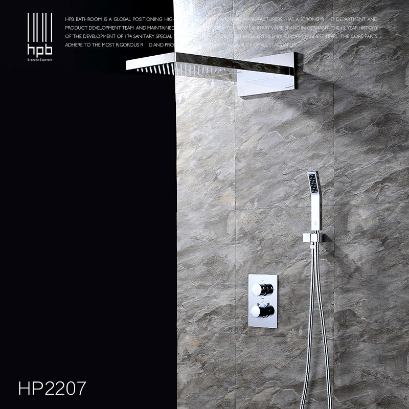 Shower Faucets Hpb Brass Thermostatic Bathroom Water Mixer Wall Mounted Bath Shower Panel Set Faucet Torneira Banheiro Hp2207 Selected Material