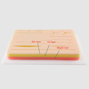 Image 2 - Surgical Skin Suture Practice Silicone Pad with Wound Simulated Skin Suture Module High Quality Surgical Equipment