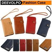 DEEVOLPO Cool Wallet Case For Xiaomi Mi 6 Plus Flip Cover For Redmi Note 3 4