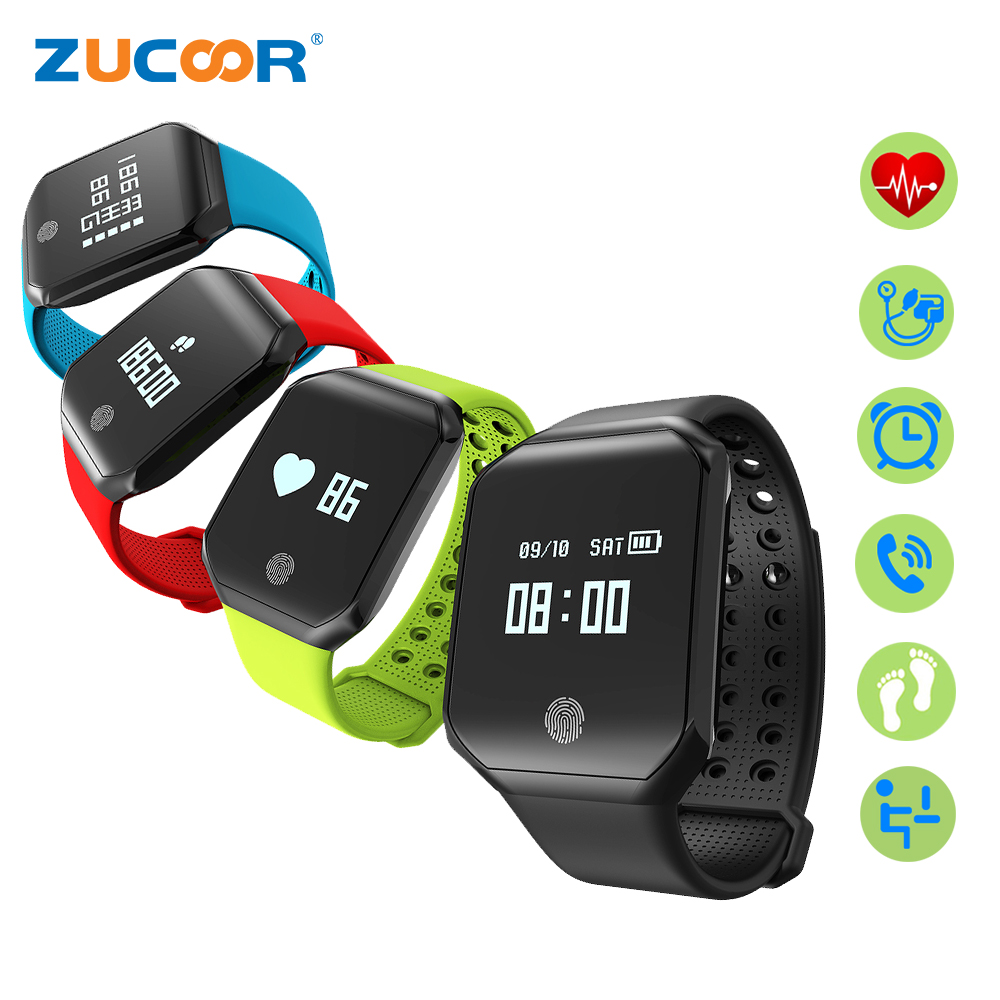 ZUCOOR Smart Bracelet Fitness Tracker Pulse Monitor Blood Pressure Clock Wearable Devices Ring CB29 Pedometer Pulsera Pulsometer