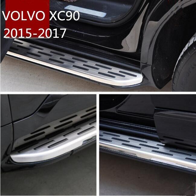 JIOYNG voiture marchepieds Auto côté marchepied pédales tout nouveau Nerf Bars convient pour VOLVO XC90 2015 2016 2017