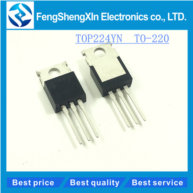 10pcs/lot New TOP224YN Three terminal Off line PWM Switch TO 220-in ...