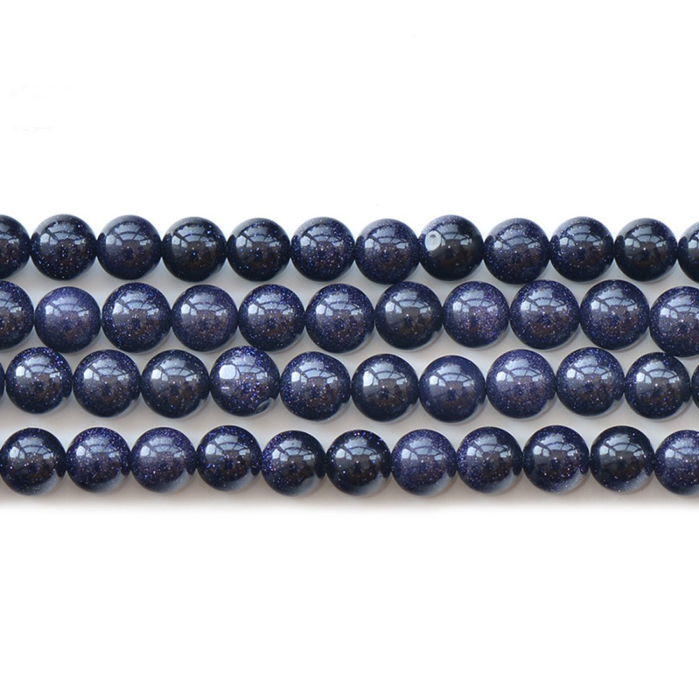 LNRRABC New High Quality 4/6/8/10/12MM Dark Blue Crystal Space Stone ...