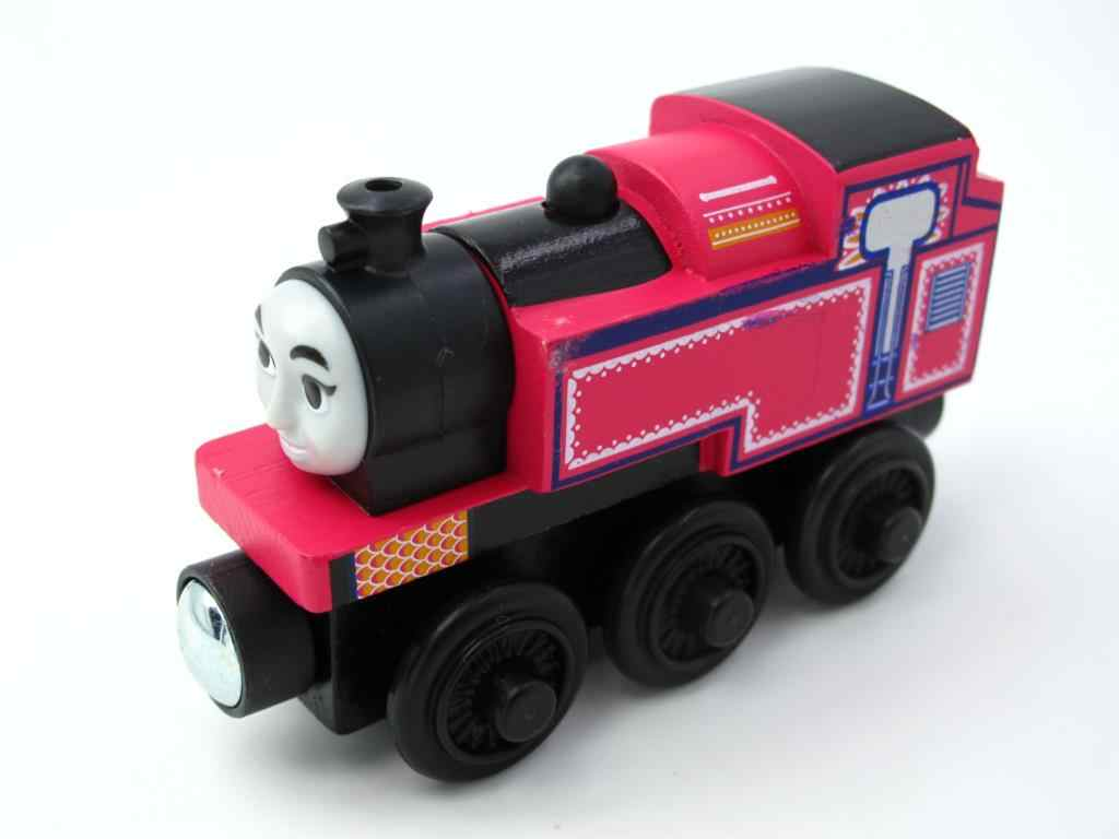 Wooden Train T005W ASHIMA Magnetic Truck Car Locomotive Engine Railway Toys for Children