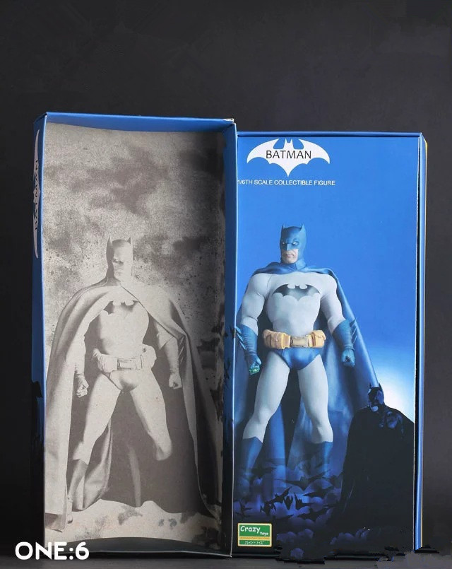 Crazy Toys <font><b>Batman</b></font> <font><b>Vs.</b></font> <font><b>Superman</b></font> <font><b>Batman</b></font> Blue Limited Edition 1/<font><b>6</b></font> th PVC Action <font><b>Figure</b></font> Collectible Model Toy 12'' 30cm