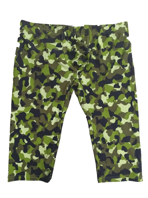 camouflage mens cargo pants fashion sexy camouflage dress camouflage Male Middle Pants Elastic Waist Design M02-2 4