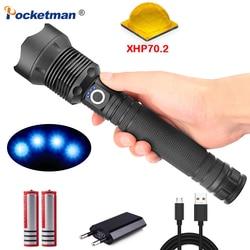 Najmocniejsza XLamp XHP70.2 potężna latarka LED lampa z zoomem latarka akumulatorowa XHP50 lekka wodoodporna na zewnątrz Camping w Latarki LED od Lampy i oświetlenie na