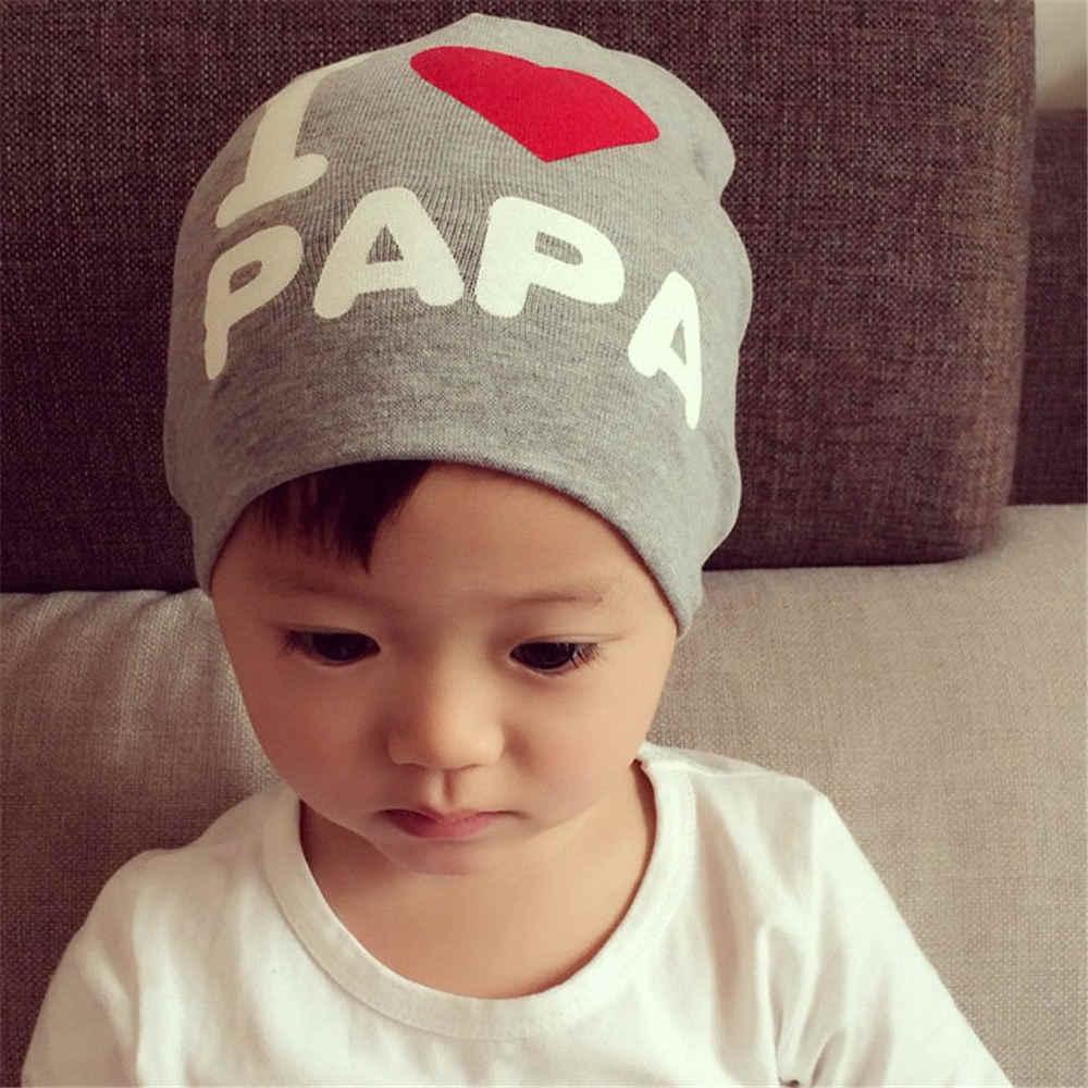 f46ca48edf8e9 ... 2018 Cheap I love Mama Papa Hat Baby Winter Hat Newborn Costume Kids  Beanie Knitted Toddler ...