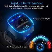 Onvian Car Charger Wireless Bluetooth 5.0 FM Transmitter 2.4A Fast Dual USB Aux Modulator Handsfree Audio MP3 Player