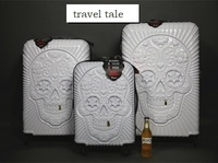 3D skull fashion High quality 20/24 /28 inches PC Rolling Luggage Spinner Travel Suitcase Unisex