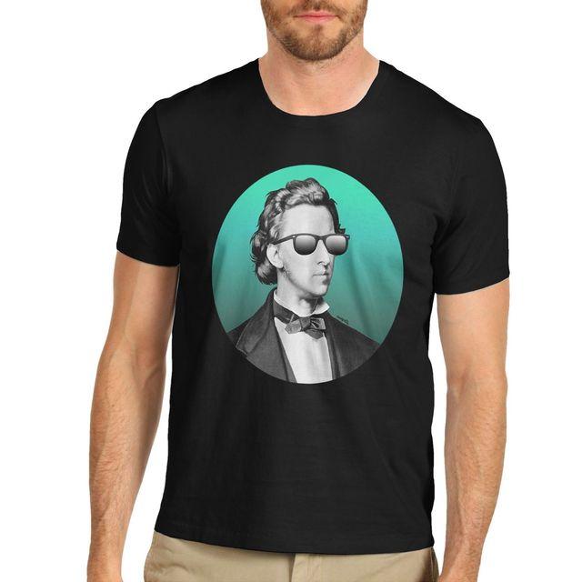finest selection 64241 d6060 Herren Moderne Neon Chopin Lustige Drucken T Shirt Kühlen Casual stolz t  hemd männer Unisex Neue Mode shirt Lose Größe top ajax 2018