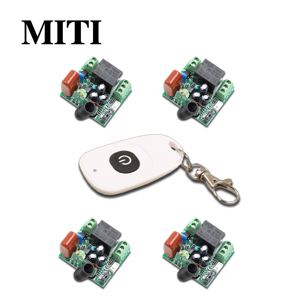 Mini Relay RF Wireless Remote Control Switch AC 220 V 1CH 10A Receiver Wireless Light Switch 315Mhz / 433.92Mhz 315 433mhz 12v 2ch remote control light on off switch 3transmitter 1receiver momentary toggle latched with relay indicator