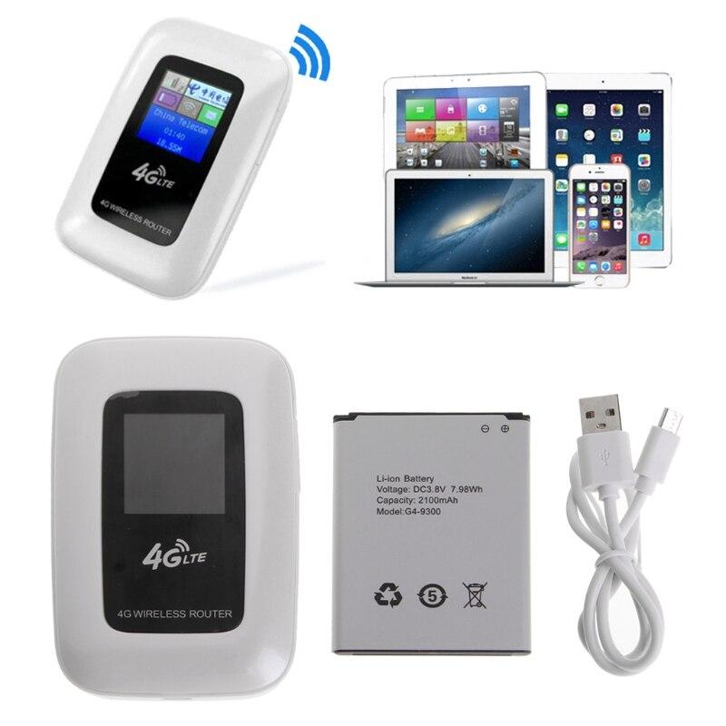 4G Mobile Wireless Mini Wi-Fi MiFi LTE Modem WiFi 4G Router with SIM Card Slot wr706 mini 7 2mbps wireless 3g wifi router modem mifi mobile hotspot with sim card slot