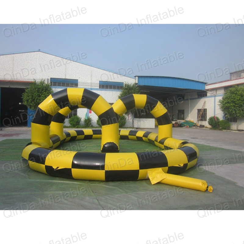 Inflatable Zorb Ball Race Track PVC go kart racing track for sporting party kids play outdoor sports games go kart race air track for balls inflatable race track