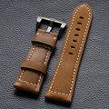 Couro de cavalo louco de alta qualidade Watch Band Pin fivela Watchstrap para das mulheres dos homens assista substituição PD014