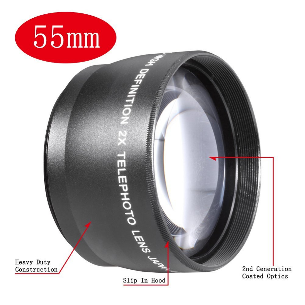 NEEWER 55mm Telephoto <font><b>Lens</b></font> w/ Bag For <font><b>Sony</b></font> A100 A200 <font><b>A230</b></font> A300 A330 image
