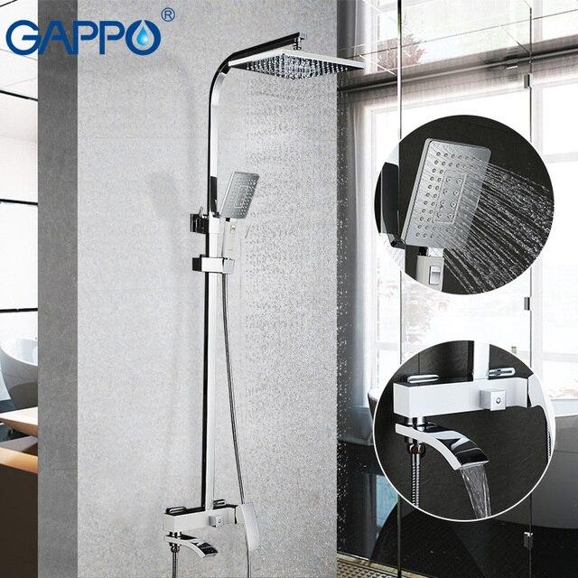 GAPPO Beyaz Lake duş Musluk küvet musluk banyo duş banyo bataryası duvara monte yağış duş seti musluk bataryası Kiti