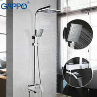 GAPPO White Lacquered shower Faucets bathtub faucet bathroom shower bath mixer wall mounted rainfall shower set mixer tap Kit